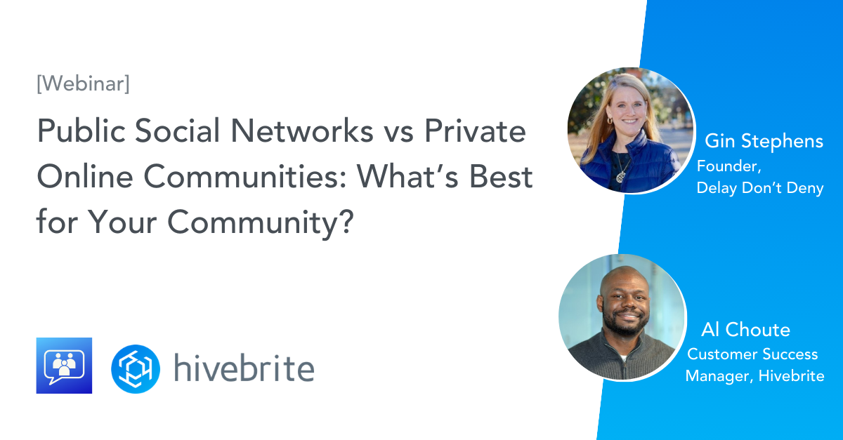 [Webinar Reply] Moving a Community From a Facebook to a Private Community Network